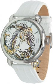 Ed Hardy Flora White Dial Women's watch FR-WH