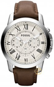 Fossil Grant Chronograph Brown Leather Strap FS4735