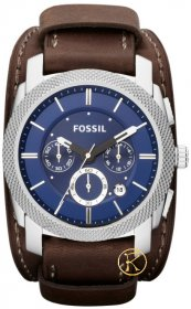 FOSSIL Machine Brown Leather Strap Chronograph FS4793