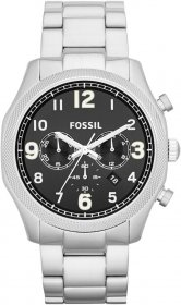 Fossil Men's Foreman Analog Display Analog Quartz Silver Watch FS4862