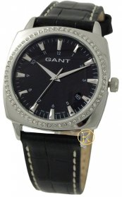 Gant Queens Ladies Crystal Black Dial and Leather Strap GW70001