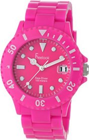 Freelook Sea Diver Neon Pink Band Pink Face Watch HA1431-5