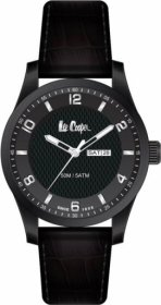 Lee Cooper Black Leather Strap LC-56G-C