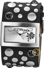 Ed Hardy Lovechild Black Ladies Watch LC-BR