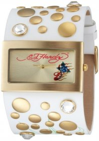 Ed Hardy White Leather Strap LC-WG