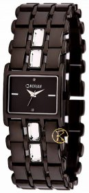 MORGAN DE TOI Black Stainless Steel Crystal Ladies M1007B