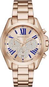 MICHAEL KORS Bradshaw Crystals Rose Gold Stainless Steel Chronograph MK6321