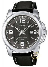 CASIO Collection Black Leather Strap MTP-1314PL-8AVEF