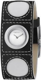 DKNY Black Leather Strap NY3261