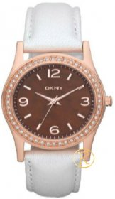 DKNY Rose Gold White Leather NY8480
