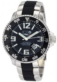 3H ITALIA Men's Oceandiver Stainless Steel Automatic Jumbo Dial Interchangeable Band Watch ODS1N