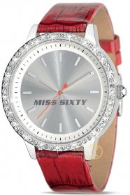 MISS SIXTY Hypnotic Red Leather Watch R0751104503