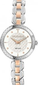 TRUSSARDI R2453137505 T-Chain Crystals Tow Tone Stainless Steel Bracelet