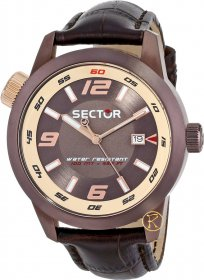 Sector Oversize Brown Leather Strap R3251102019