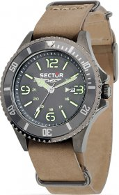 Sector Contemporary 235 Brown Leather Strap R3251161010