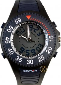 SECTOR EXPANDER Chronograph Rubber Strap R3251172042