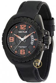 SECTOR 600 Black Leather Strap R3251573002