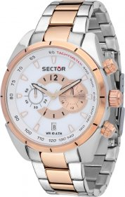 SECTOR 330 Chrono Two Tone Stainless Steel Bracelet R3273794001