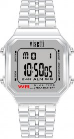 VISETTI Retro V Digital Stainless Steel Bracelet RI-007SS