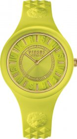 VERSUS by VERSACE Fire Island Yellow Rubber Strap SOQ060015