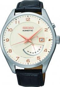 Seiko Gents Kinetic Retrograde Leather Strap SRN049P1