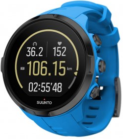 SUUNTO SPARTAN  Sport Wrist HR Blue  Rear Perspective View SS022663000