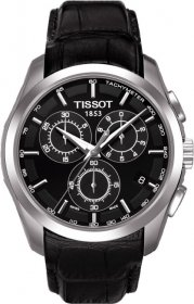 Tissot TREND Couturier Chronograph Black Leather Strap T035.617.16.051.00