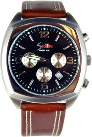 Sportime Brown Leather Strap TMG61185