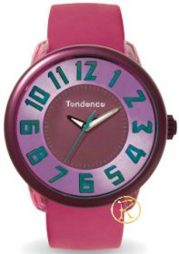 TENDENCE Fantasy Pink Rubber Strap TO630008