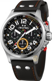 TW STEEL Sahara Collection Force India F1 Black Leather Strap TW432