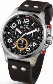 TW STEEL Large Sahara Collection Force India F1 Leather Strap TW433