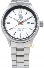 U.S. POLO White Stainless Steel Date USP4162ST