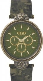 Versus by Versace Military Leather Strap Victoria Harbour VSP330117