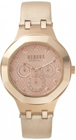 VERSUS by VERSACE Laguna City Rose Gold Leather Strap VSP360317