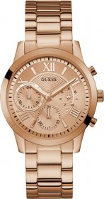GUESS Crystals Multifunction Rose Gold Stainless Steel Bracelet W1070L3