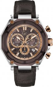 GUESS Collection Brown Leather Chronograph X10003G4S