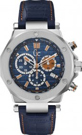 GUESS Collection Blue Leather Chronograph X72029G7S