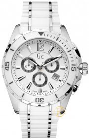 GUESS Collection Chronograph White Ceramic and Steel Bracelet X76001G1S
