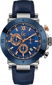 GUESS Collection Blue Leather Chronograph X90013G7S