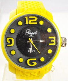 ANGEL yellow Rubber Strap AP1246Y