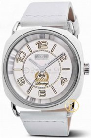 MOSCHINO Racing Vibe White Leather Strap White Dial  MW0243