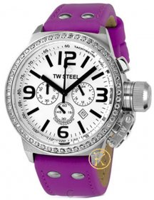Tw Steel Chrono Purple Rubber Strap  TW10PU