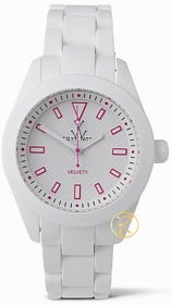 ToyWatch Velvety White and Pink Watch VV01WH