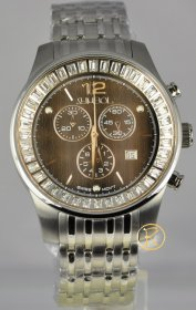 SYMBOL Chronograph Crystal Stainless Steel Bracelet SY-9153-S-B