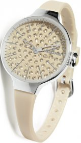 Hoops Cherie Diamond Beige Rubber Strap 2483LD-02