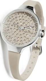 Hoops Cherie Diamond Grey Rubber Strap 2483LD-04