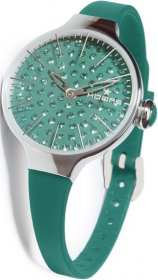 HOOPS Cherie Diamond Green Rubber strap 2483LD05