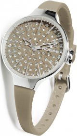 Hoops Cherie Diamond Brown Rubber Strap 2483LD-08