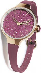 Hoops Cherie Diamond Gold Ladies Bordeaux 2483LGD06