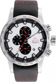 Kappa Black Leather Strap KP-1434M-B